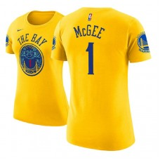 Women's Golden State Warriors #1 JaVale McGee City T-Shirt