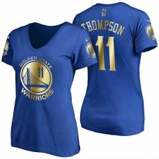 Women's Golden State Warriors #11 Klay Thompson Royal Name & Number T-Shirt