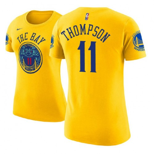 Women's Golden State Warriors #11 Klay Thompson City T-Shirt