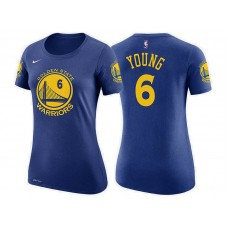 Women's Golden State Warriors #6 Nick Young Blue Icon T-Shirt