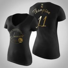 Women's Golden State Warriors Klay Thompson #11 Golden Edition Handwriting T-Shirt  -  Black