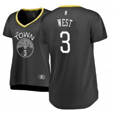 Women's Golden State Warriors #3 David West Gray Statement Jersey