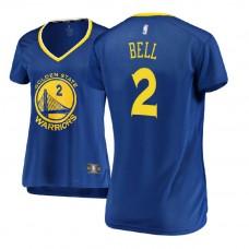 Women's Golden State Warriors #2 Jordan Bell Royal Icon Jersey