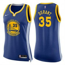Women's Golden State Warriors #35 Kevin Durant Blue Icon Jersey