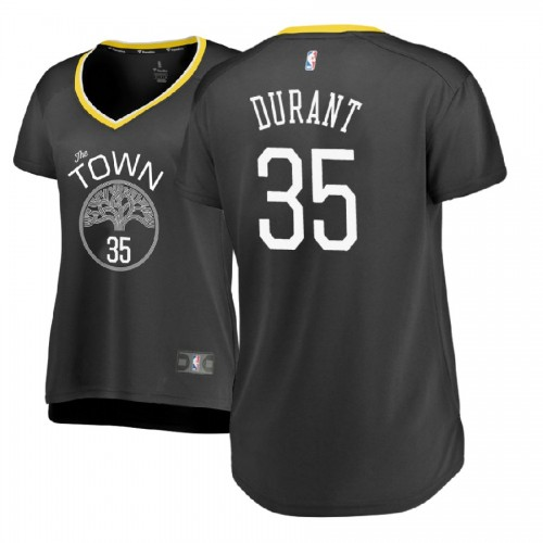 Women's Golden State Warriors #35 Kevin Durant Statement Jersey