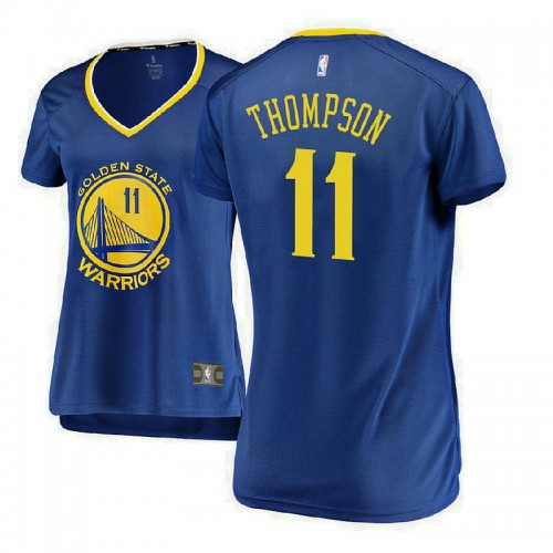 Women's Golden State Warriors #11 Klay Thompson Royal Icon Jersey