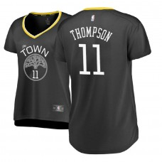 Women's Golden State Warriors #11 Klay Thompson Gray Statement Jersey