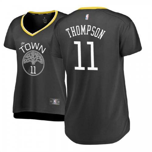 Women's Golden State Warriors #11 Klay Thompson Gray Statement Jersey