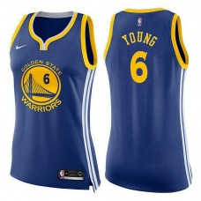 Women's Golden State Warriors #6 Nick Young Blue Icon Jersey