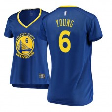 Women's Golden State Warriors #6 Nick Young Royal Icon Jersey