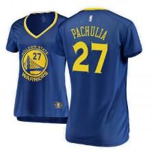 Women's Golden State Warriors #27 Zaza Pachulia Royal Icon Jersey