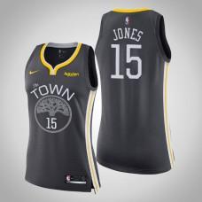 Women's Golden State Warriors #15 Damian Jones Gray Statement Jersey