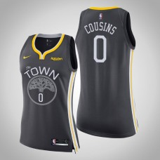 Women's Golden State Warriors #0 DeMarcus Cousins Gray Statement Jersey
