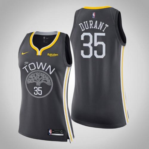 Women's Kevin Durant Golden State Warriors Statement Gray Jersey
