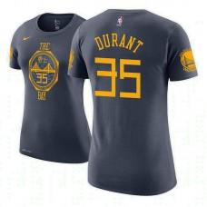 Women's Golden State Warriors #35 Kevin Durant City T-Shirt