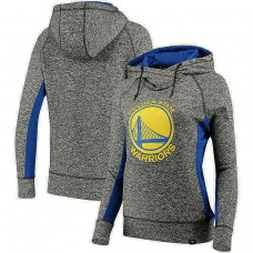 Women's Golden State Warriors Charcoal Royal Static Pullover Hoodie