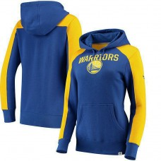 Women's Golden State Warriors Royal Gold Iconic Pullover Hoodie
