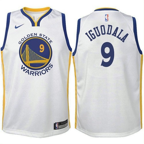 Youth Golden State Warriors #9 Andre Iguodala White Association Jersey