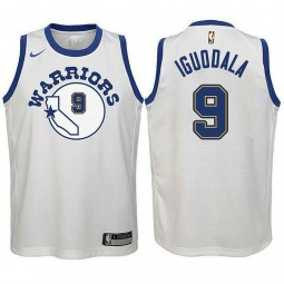 Youth Golden State Warriors #9 Andre Iguodala White Hardwood Classics Jersey
