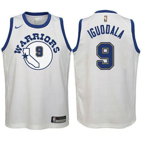 Youth Golden State Warriors #9 Andre Iguodala White Hardwood Classics Jersey