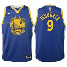 Youth Golden State Warriors #9 Andre Iguodala Royal Icon Jersey