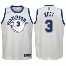 Youth Golden State Warriors #3 David West Hardwood Classics Jersey