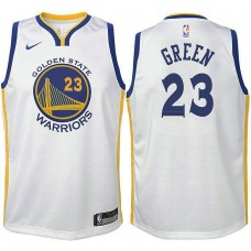Youth Golden State Warriors #23 Draymond Green White Association Jersey
