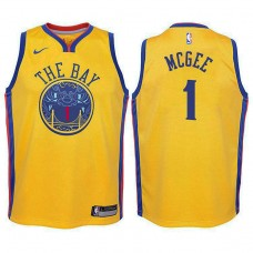 Youth Golden State Warriors #1 JaVale McGee Gold City Jersey