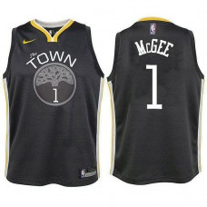 Youth Golden State Warriors #1 JaVale McGee Gray Statement Jersey