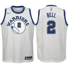 Youth Golden State Warriors #2 Jordan Bell Hardwood Classics Jersey