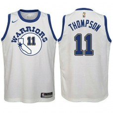 Youth Golden State Warriors #11 Klay Thompson White Hardwood Classics Jersey