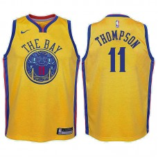 Youth Golden State Warriors #11 Klay Thompson City Jersey