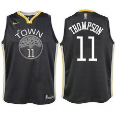Youth Golden State Warriors #11 Klay Thompson Gray Statement Jersey