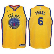 Youth Golden State Warriors #6 Nick Young Gold City Jersey