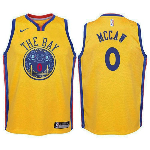 Youth Patrick McCaw Golden State Warriors City Edition Gold Swingman Jersey