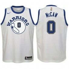 Youth Golden State Warriors #0 Patrick McCaw White Hardwood Classics Jersey