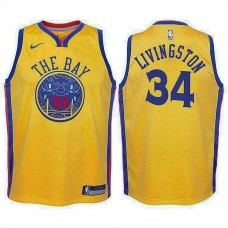 Youth Golden State Warriors #34 Shaun Livingston City Jersey