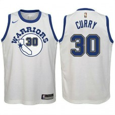 Youth Stephen Curry Golden State Warriors Classic Edition White Swingman Jersey