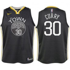 Youth Golden State Warriors #30 Stephen Curry Gray Statement Jersey