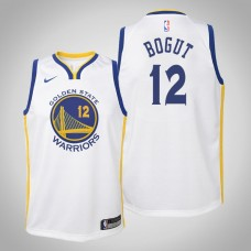 Youth Golden State Warriors #12 Andrew Bogut White Association Jersey