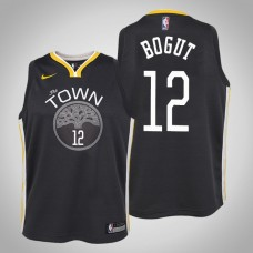 Youth Andrew Bogut Golden State Warriors Statement Black Jersey