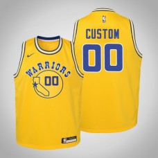 Youth Golden State Warriors #00 Custom Hardwood Classics Jersey