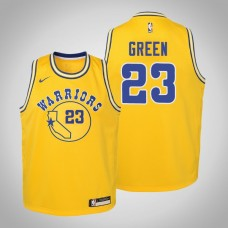 Youth Golden State Warriors #23 Draymond Green Gold Hardwood Classics Jersey