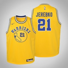 Youth Golden State Warriors #21 Jonas Jerebko Hardwood Classics Jersey