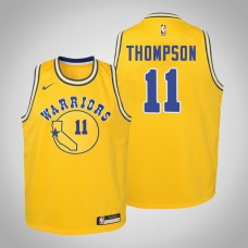 Youth Golden State Warriors #11 Klay Thompson Hardwood Classics Jersey