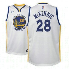 Youth Golden State Warriors #28 Alfonzo McKinnie White Association Jersey