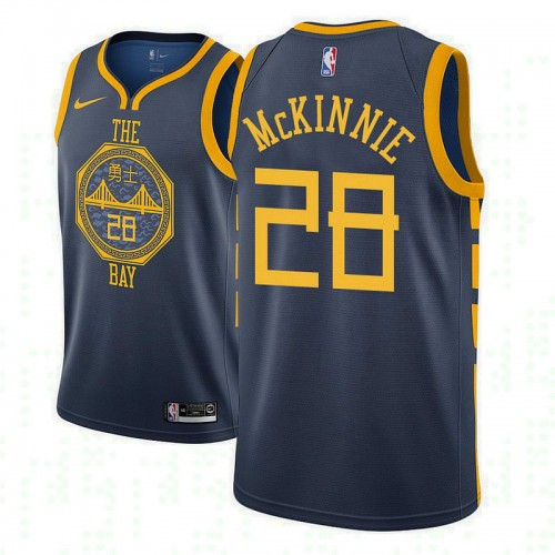 Youth Alfonzo McKinnie Golden State Warriors City Edition Navy Jersey