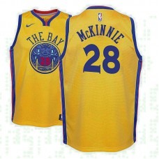 Youth Golden State Warriors #28 Alfonzo McKinnie City Jersey