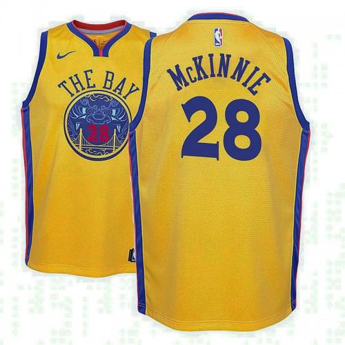 Youth Golden State Warriors #28 Alfonzo McKinnie City Jersey