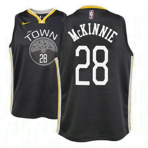 Youth Golden State Warriors #28 Alfonzo McKinnie Statement Jersey